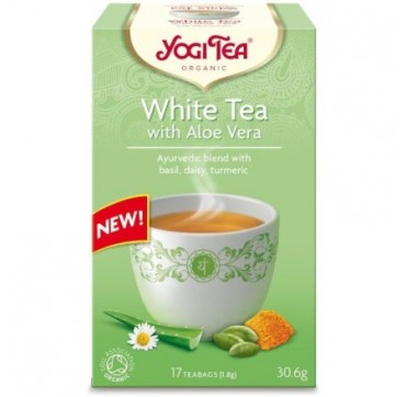 YOGI TEA WHITE TEA WITH ALOE VERA 17teabags