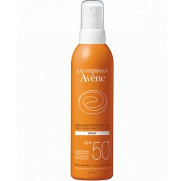 Avene Spray Spf50+ Αντηλιακό Για Πρόσωπο Και Σώμα Κατά Της Ξηρότητας 200ml