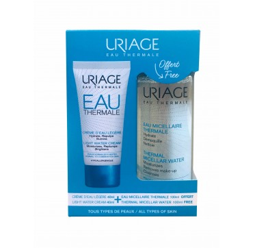 URIAGE EAU THERMALE Promo Pack Light Water Cream 40ml & Δώρο Thermal Micellar Water 100ml