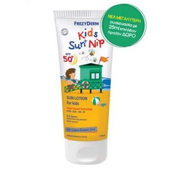 Frezyderm Kids Sun & Nip Αντηλιακό Γαλάκτωμα Για Παιδιά Spf50+ 175ml