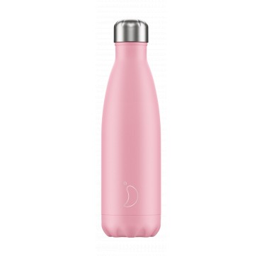 CHILLY'S BOTTLE PINK PASTEL EDITION REUSABLE BOTTLE ΑΝΟΞΕΙΔΩΤΟ ΘΕΡΜΟΣ 500ML