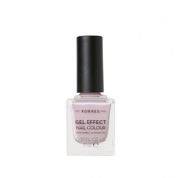 KORRES GEL EFFECT NAIL COLOUR No6 WITH SWEET ALMOND OIL COTTON CANDY 11ml