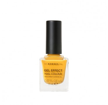 KORRES GEL EFFECT NAIL COLOUR No91 SUNSHINE WITH SWEET ALMOND OIL 11ml