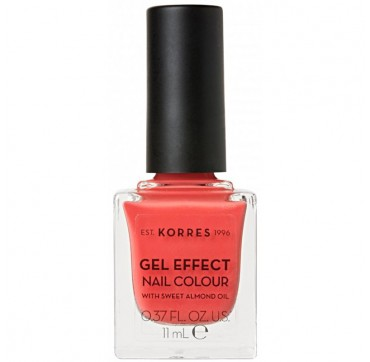KORRES 43 PEACH SORBET GEL EFFECT NAIL COLOUR WITH SWEET ALMOND OIL 11ml