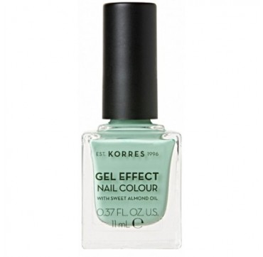 KORRES 35 MINT GREENGEL EFFECT NAIL COLOUR WITH SWEET ALMOND OIL 11ml