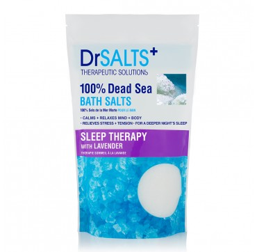 Dr SALTS 100% DEAD SEA BATH SALTS SLEEP THERAPYWITH LAVENDER 1kg
