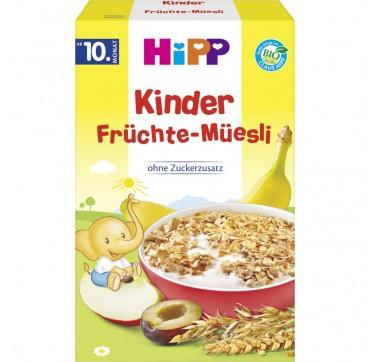 Hipp Παιδικά Μούσλι Με Φρούτα Χωρίς Προσθήκη Ζάχαρης (από 1-3 Ετών) 200g