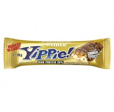 WEIDER ΜΠΑΡΑ YIPPIE 36% PEANUT-CARAMEL 45g