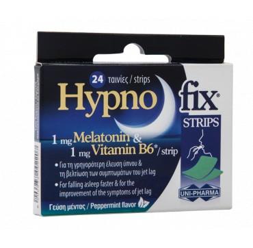 Uni-pharma Hypno Fix Strips Συμπλήρωμα Διατροφής Με Μελατονινη 24strips