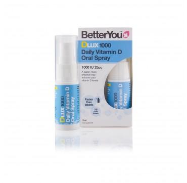Better You Dlux Vit. D 1000iu Υπογλώσσιο Spray 15ml (100 Ψεκασμοί)