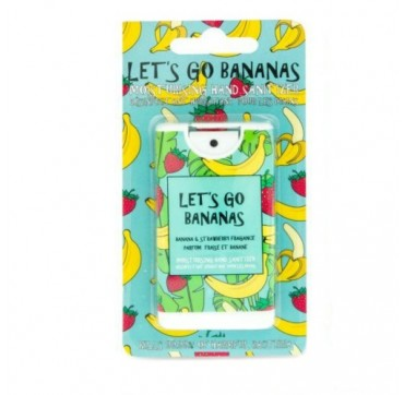 MAD BEAUTY LET'S GO BANANAS MOISTURISING HAND SANITIZER BANANA & STRAWBERRY ΕΝΥΔΑΤΙΚΟ ΑΝΤΙΣΗΠΤΙΚΟ ΧΕΡΙΩΝ ΜΠΑΝΑΝΑ ΦΡΑΟΥΛΑ 15ml