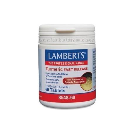 LAMBERTS TURMERIC FAST RELEASE 10,000mg 60tabs