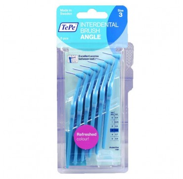 TEPE INTERDENTAL BRUSH ANGLE 0.6mm no3 ΜΠΛΕ 6τμχ