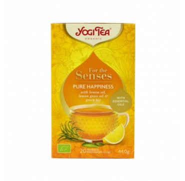 YOGI TEA PURE HAPPINESS WITH ESSENTIAL OILS 20 TEABAGS 44g