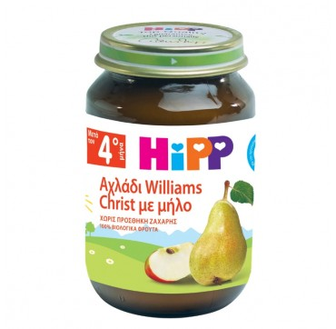 Hipp Φρουτόκρεμα Αχλάδι Williams Christ Με Μήλο 190g