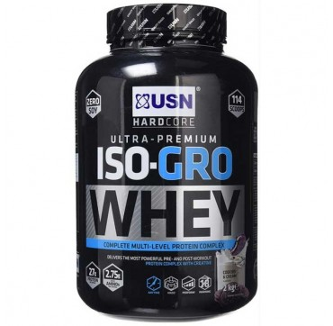USN ULTRA-PREMIUM ISO-GRO WHEY PROTEIN COOKKIES & CREAM 2kg