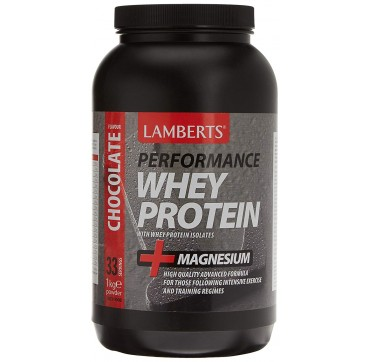 LAMBERTS PERFORMANCE WHEY PROTEIN CHOCOLATE 1kg