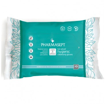 PHARMASEPT TOL VELVET HYGIENIC CLEANSING GLOVES 10τμχ