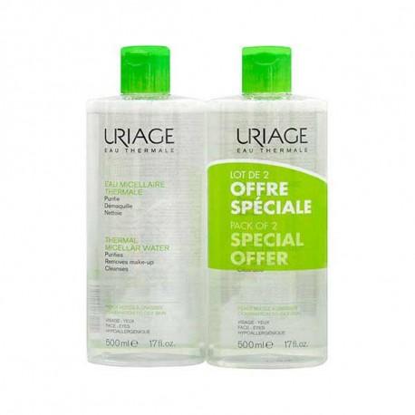 URIAGE Promo PackThermal Micellar Water Για Μικτή/Λιπαρή Επιδερμίδα 2x500 ml