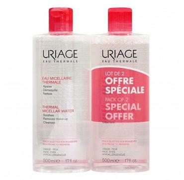 URIAGE Promo Pack Thermal Micellar Water Για Ευαίσθητη Επιδερμίδα 2x500 ml
