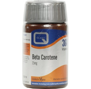 QUEST BETA CAROTENE TABL 15mg 30tabs