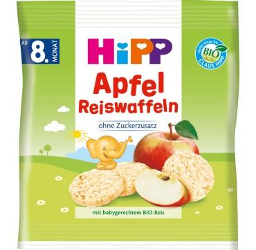 Hipp Ρυζογκοφρέτα Με Γεύση Μήλο Από Τον 8ο Μήνα 30gr