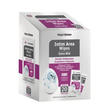 FREZYDERM INTIM AREA WIPES EXTRA MILD pH4 20φακ