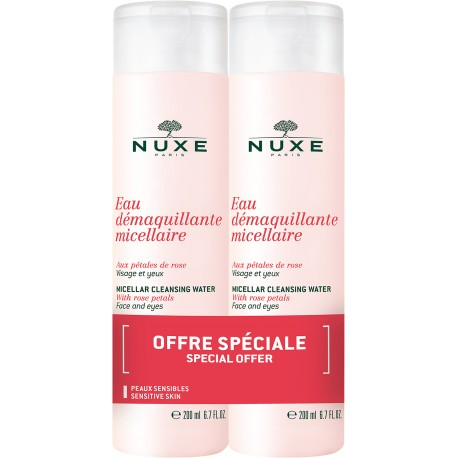 NUXE EAU DEMAQUILLANT MICELLAIRE CLEANSING WATER WITH ROSE PETALS (1+1ΔΩΡΟ) 200ml