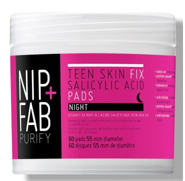 NIP+FAB TEEN SKIN FIX SALICYLIC ACID PADS NIGHT 60pads