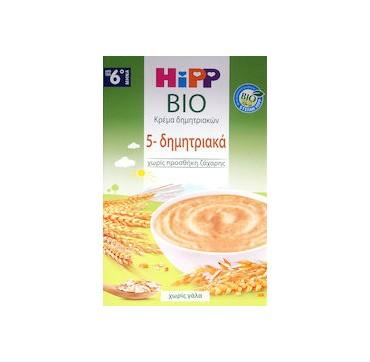 Hipp Κρέμα Βιολογικής Καλλιέργειας 5 Δημητριακά Από Τον 6ο Μηνά 200g