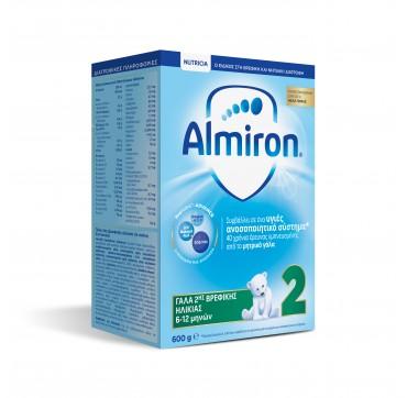 Nutricia Almiron 2 Γάλα Ηλικίας 6-12 Μηνών 600g