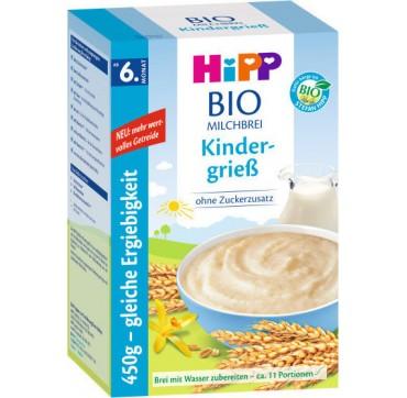 Hipp Κρέμα Δημητριακών Φαρίν Λακτέ Με Γάλα & Σιμιγδάλι Από Τον 6ο Μηνά 450g