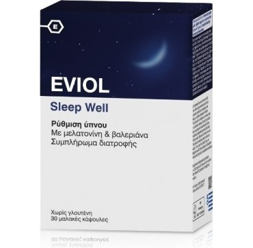 Eviol Sleep Well Ρύθμιση Ύπνου 30 Soft Caps