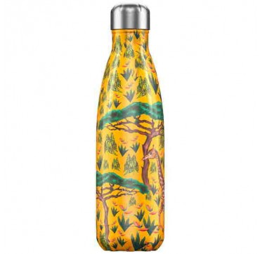 CHILLY'S BOTTLE TROPICAL GIRAFFE EDITION REUSABLE BOTTLE ΑΝΟΞΕΙΔΩΤΟ ΘΕΡΜΟΣ 500ML
