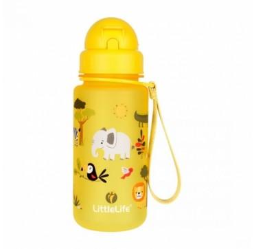 Littlelife Water Bottle Safari Παγούρι Με Καλαμάκι 400ml