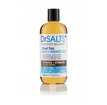 DR SALTS DEAD SEA BATH + SHOWER GEL RECHARGE & STIMULATE WITH BLACK PEPPER ΑΝΑΖΩΟΓΟΝΗΤΙΚΟ ΑΦΡΟΥΛΟΥΤΡΟ 350ML