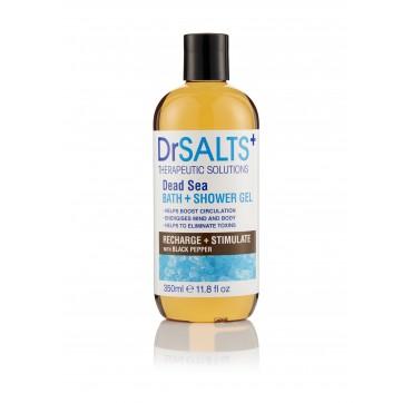 Dr Salts Dead Sea Bath + Shower Gel Recharge & Stimulate With Black Pepper Αναζωογονητικό Αφρουλουτρο 350ml