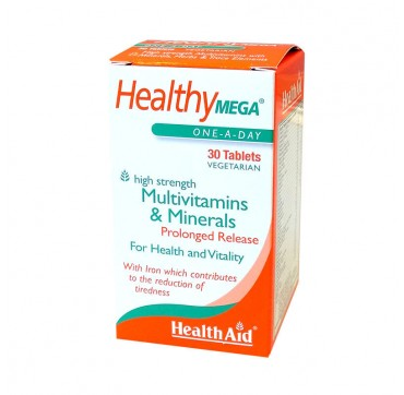 HEALTH AID HEALTHYMEGA MULTIVITAMINS & MINERALS 30V.TABS