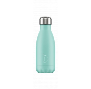 CHILLY'S BOTTLE GREEN PASTEL EDITION REUSABLE BOTTLE ΑΝΟΞΕΙΔΩΤΟ ΘΕΡΜΟΣ 260ML