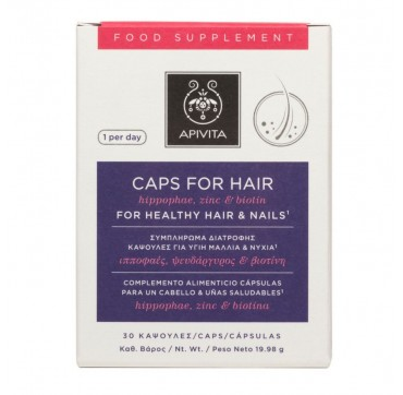 Apivita Caps For Hair 30caps