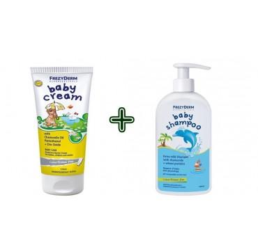 Frezyderm Promo Pack Baby Cream 175ml + 50ml Free & Δώρο Baby Shampoo 100ml