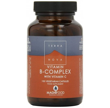TERRANOVA B-COMPLEX WITH VITAMIN C 100CAPS