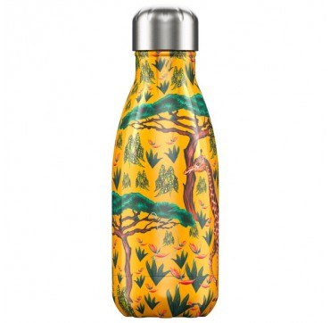 CHILLY'S BOTTLE TROPICAL GIRAFFE EDITION REUSABLE BOTTLE ΑΝΟΞΕΙΔΩΤΟ ΘΕΡΜΟΣ 260ML