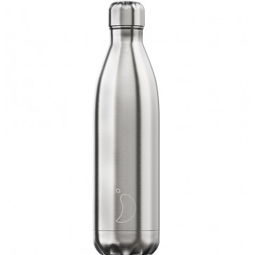 CHILLY'S BOTTLE STAINLESS STEEL ORIGINAL SILVER REUSABLE BOTTLE ΑΝΟΞΕΙΔΩΤΟ ΘΕΡΜΟΣ 750ML