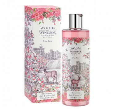 Woods Of Windsor True Rose Moisturising Bath & Shower Gel 250ml