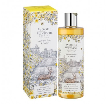 Woods Of Windsor Honeyed Pear & Αmber Moisturising Bath & Shower Gel 250ml