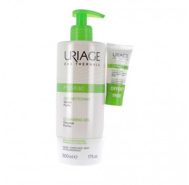 URIAGE PROMO HYSEAC GEL NETTOYANT CLEANSING GEL 500ML & ΔΩΡΟ HYSEAC 3-REGUL SOIN-GLOBAL 15ML