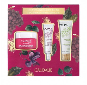Caudalie Trio SOS Hydration Intense: Vinosource S.O.S. Intense Moisturizing Cream 50ml & SERUm 10ml & Moisturising Mask 15ml