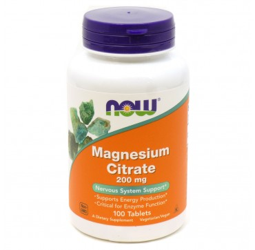 NOW MAGNESIUM CITRATE 200MG 100TABS