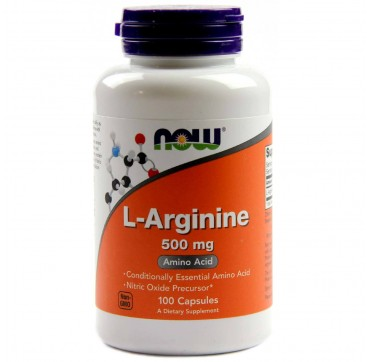 Now L-arginine 500mg 100caps